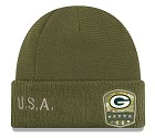 CAPPELLO NEW ERA SALUTE TO SERVICE KNIT 2019  GREEN BAY PACKERS